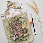 Сумки и аксессуары handmade. Livemaster - original item Bag hedgehog in the fog. Handmade.