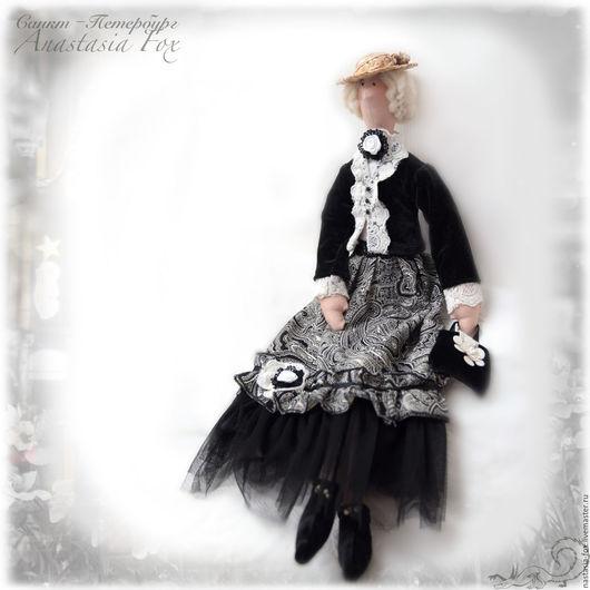 Куклы Тильды ручной работы. Ярмарка Мастеров - ручная работа. Купить Тильда, Петербурженка. Handmade. Чёрно-белый, кукла в подарок