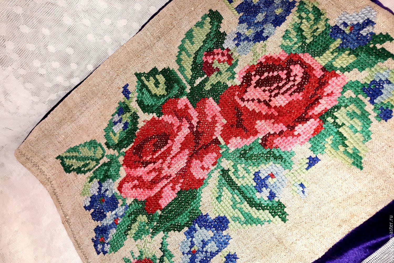 Винтажный лен для вышивки