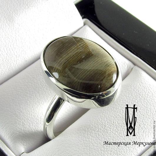 Кольца ручной работы. Ярмарка Мастеров - ручная работа. Купить Перстень с окаменелым деревом. Handmade. Серебряный, подарок