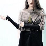 Одежда handmade. Livemaster - original item Voluminous long sweater, oversize jumper. Handmade.