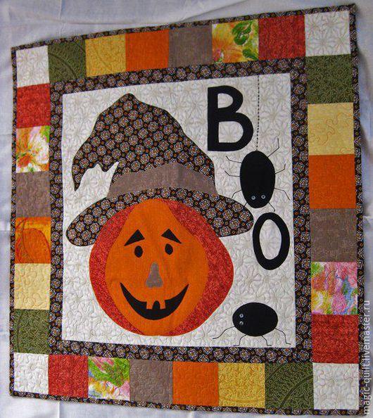 """Фэнтези ручной работы. Ярмарка Мастеров - ручная работа. Купить Панно """"Halloween"""". Handmade. Оранжевый, тыквоголовка, хеллоуин, бязь хлопок"""