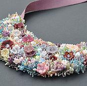 Украшения handmade. Livemaster - original item Necklace on ribbon meadow. Handmade.