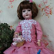 Куклы и игрушки ручной работы. Ярмарка Мастеров - ручная работа Платье для антикварной куклы. Handmade.