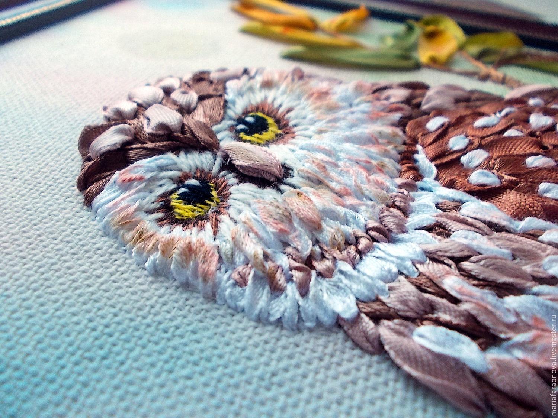Мастер-класс по вышивке лентами совы