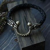 Украшения handmade. Livemaster - original item Leather bracelet .bracelet with wolves men`s bracelet. Handmade.