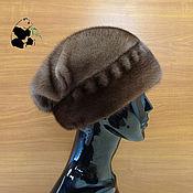 Аксессуары handmade. Livemaster - original item Model female hat fur Finnish mink. Art.VC-37. Handmade.