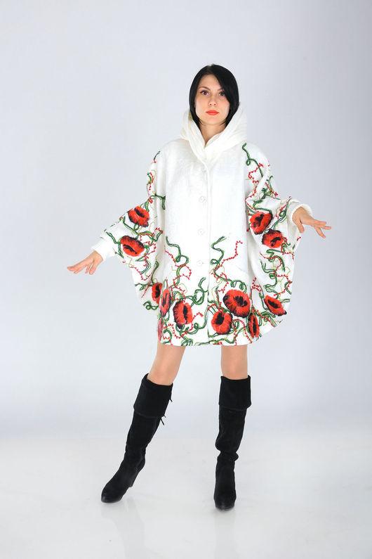 Верхняя одежда ручной работы. Ярмарка Мастеров - ручная работа. Купить ПЧ 43. Handmade. Белый, пальто женское