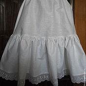 Юбки ручной работы. Ярмарка Мастеров - ручная работа Нижняя юбка из хлопка с оборкой. Handmade.