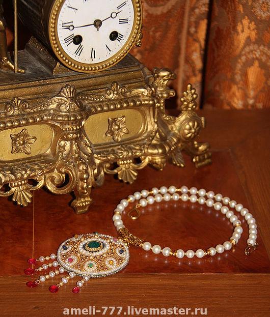 """Колье, бусы ручной работы. Ярмарка Мастеров - ручная работа. Купить ЖЕМЧУЖНОЕ ОЖЕРЕЛЬЕ """"ТРЕТИЙ РИМ"""". Handmade. Ожерелье, сокровище"""