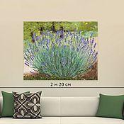 Картины и панно handmade. Livemaster - original item Lavender Bush oil on canvas. Handmade.
