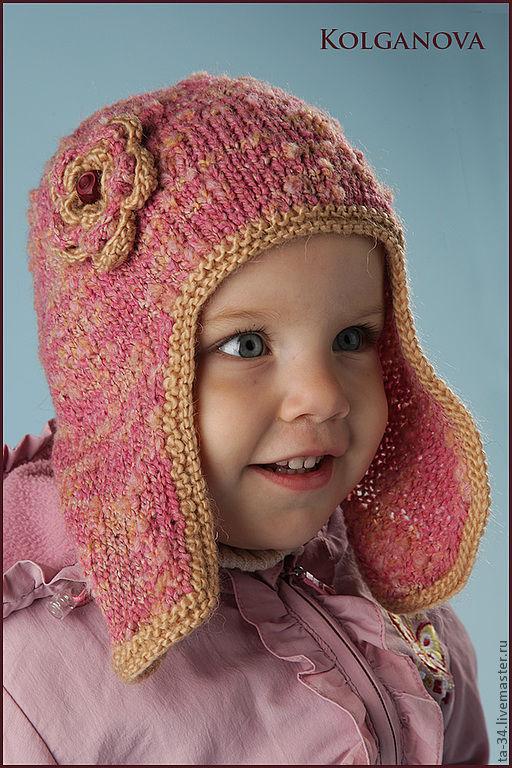 Шапки и шарфы ручной работы. Ярмарка Мастеров - ручная работа. Купить Шапочка розовая. Handmade. Розовый, полушерсть