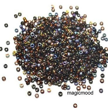 Materials for creativity handmade. Livemaster - original item 10g Miyuki 15/0 MIX 53 Topaz Japanese seed beads Miyuki round mix. Handmade.
