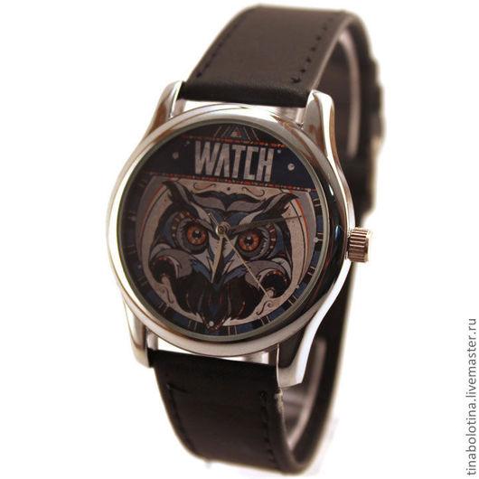 Часы ручной работы. Ярмарка Мастеров - ручная работа. Купить Дизайнерские наручные часы Owl  Watch. Handmade. Сова