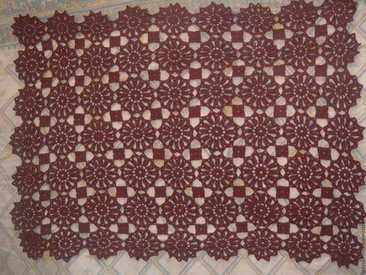 Текстиль, ковры ручной работы. Ярмарка Мастеров - ручная работа. Купить Скатерть из  ХЛОПОК МЕРСЕРИЗОВАННЫЙ. Handmade. Бордовый, высокообьемнный акрил