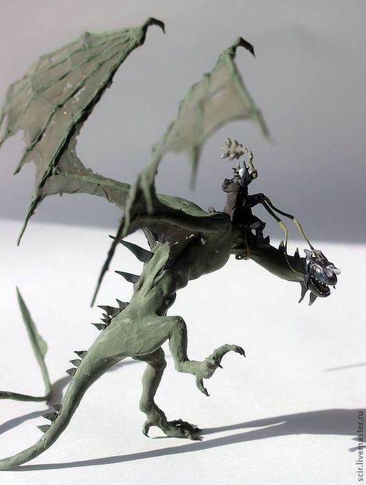 """Сказочные персонажи ручной работы. Ярмарка Мастеров - ручная работа. Купить статуэтка """"Назгул на драконе (король-призрак)"""" по Дж Р.Р. Толкину. Handmade."""