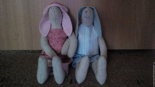 Игрушки животные, ручной работы. Ярмарка Мастеров - ручная работа. Купить Парочка влюбленных зайцев в стиле Тильда. Handmade. Комбинированный