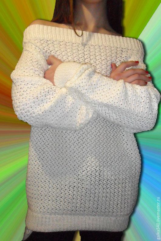 """Кофты и свитера ручной работы. Ярмарка Мастеров - ручная работа. Купить Ажурная туника """"Нежность"""".Авторская работа. Handmade. Белый"""