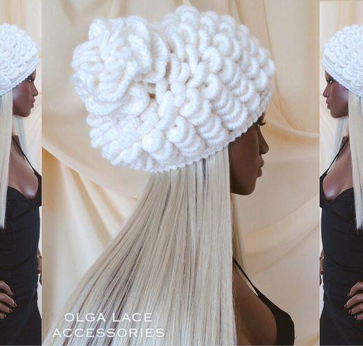 """Шапки ручной работы. Ярмарка Мастеров - ручная работа. Купить Вязаная шапка """"Shells"""" - """"Ракушки"""" от Olga Lace. Handmade."""