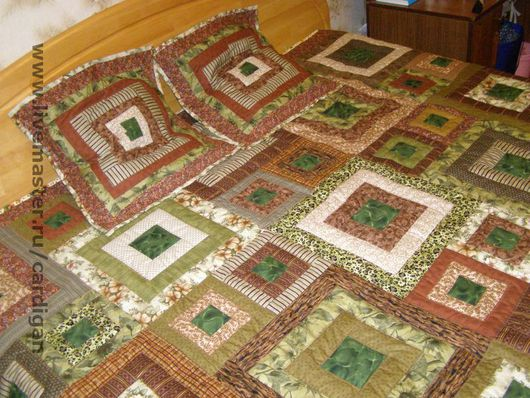 """Текстиль, ковры ручной работы. Ярмарка Мастеров - ручная работа. Купить """"Country pine"""" (лоскутный комплект).. Handmade. Пэтчворк"""