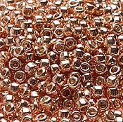 Бисер ручной работы. Ярмарка Мастеров - ручная работа 10гр Бисер Тохо 11/0 PF551 розовое золото японский бисер TOHO гальв. Handmade.