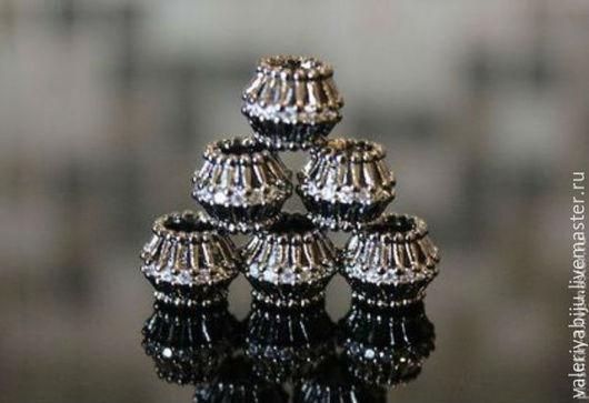 Для украшений ручной работы. Ярмарка Мастеров - ручная работа. Купить бусины черные (оксидированная латунь) в ассортименте. Handmade. Черный