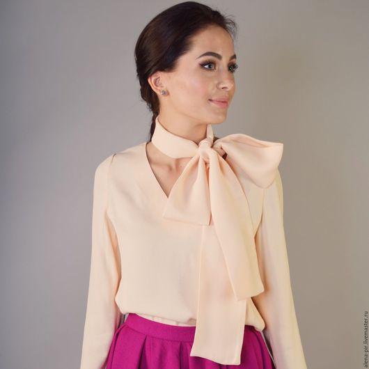 Блузки ручной работы. Ярмарка Мастеров - ручная работа. Купить Женская блуза. Handmade. Бежевый, блузка нарядная