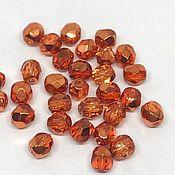 Бусины ручной работы. Ярмарка Мастеров - ручная работа Бусины Чехия Preciosa, оранжевый металлик, 4 мм, 1 шт. Handmade.