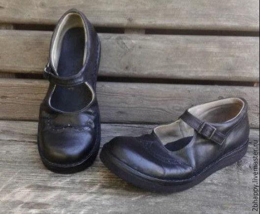 Обувь ручной работы. Ярмарка Мастеров - ручная работа. Купить Кожаные туфли Сэкондхэнд. Handmade. Туфли ручной работы