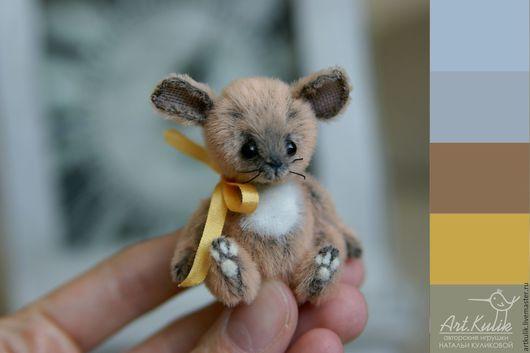 Мишки Тедди ручной работы. Ярмарка Мастеров - ручная работа. Купить Мышонок Пик. Handmade. Рыжий, мышка тедди, artkulik