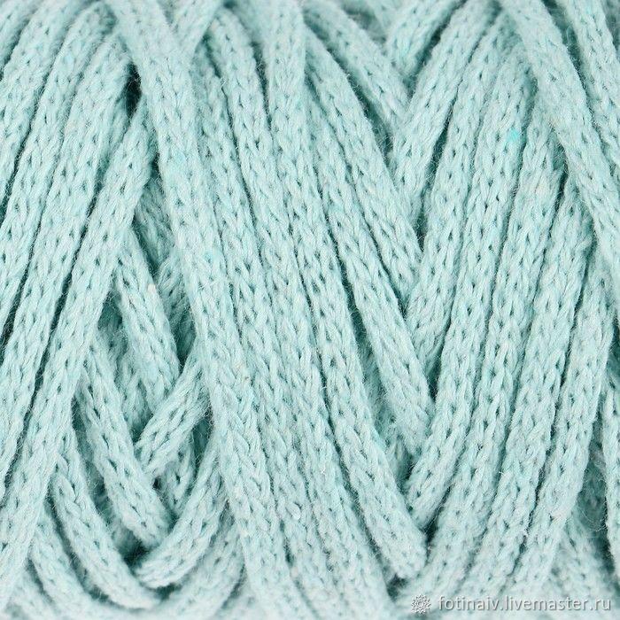 Cotton cord 4mm. Mint, Yarn, Petrozavodsk,  Фото №1