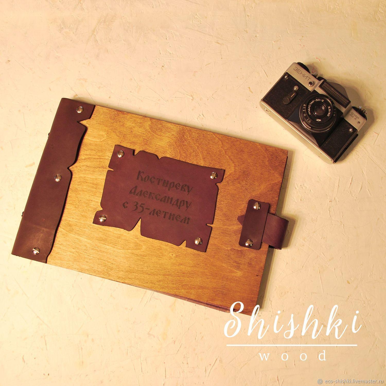"""Фотоальбом """"Wood and leather"""", Фотоальбомы, Ярославль,  Фото №1"""