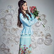 Одежда ручной работы. Ярмарка Мастеров - ручная работа Шелковая юбка с полевыми цветами Blumarine. Handmade.