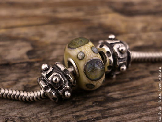 """Браслеты ручной работы. Ярмарка Мастеров - ручная работа. Купить """"Gear"""" серебряные бусины для браслетов в стиле пандора. Handmade. Серебряный"""