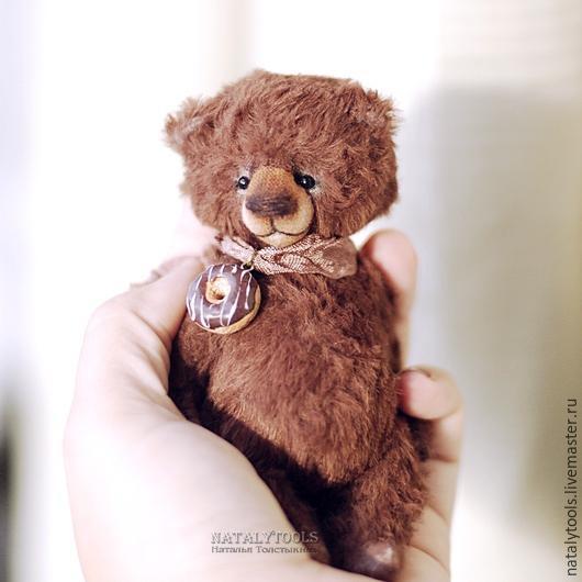 Мишки Тедди ручной работы. Ярмарка Мастеров - ручная работа. Купить Шоколадный. Choco-bear.  Коллекционный мишка-тедди.. Handmade.