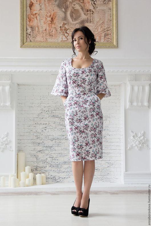 """Платья ручной работы. Ярмарка Мастеров - ручная работа. Купить Платье """"Нежность"""". Handmade. Комбинированный, платье летучая мышь"""