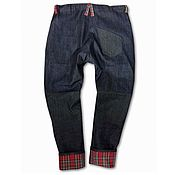 Одежда handmade. Livemaster - original item Jeans with a bunt in the lining of the winter. Handmade.