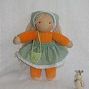 Куклы и игрушки ручной работы. Ярмарка Мастеров - ручная работа Кукла в пришивном комбинезоне, 30 см. Handmade.