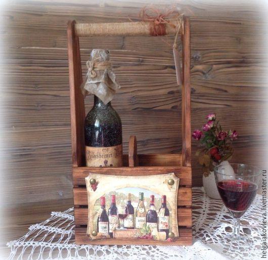 Корзины, коробы ручной работы. Ярмарка Мастеров - ручная работа. Купить Короб для хранения вина. Handmade. Коричневый, для дома и интерьера