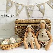 Куклы и игрушки handmade. Livemaster - original item Hares Tilda Easter - Holy Pascha. Handmade.