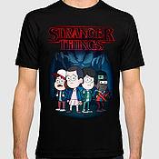 "Одежда handmade. Livemaster - original item Футболка с принтом ""Stranger Things x Gravity Falls"". Handmade."