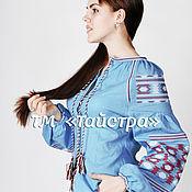 Одежда ручной работы. Ярмарка Мастеров - ручная работа Блуза вышитая  женская ,лен,бохо, этно стиль  Vita Kin,Bohemia. Handmade.