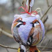 """Подарки к праздникам ручной работы. Ярмарка Мастеров - ручная работа """"Влюбленные свиристели"""". Handmade."""