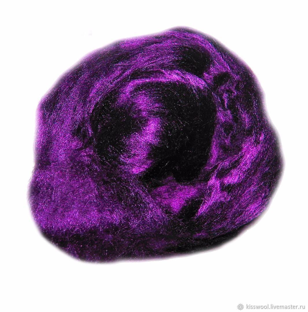 Волокно Бамбук - Тенсел. Фиолет .50 гр, Волокна, Бердск,  Фото №1
