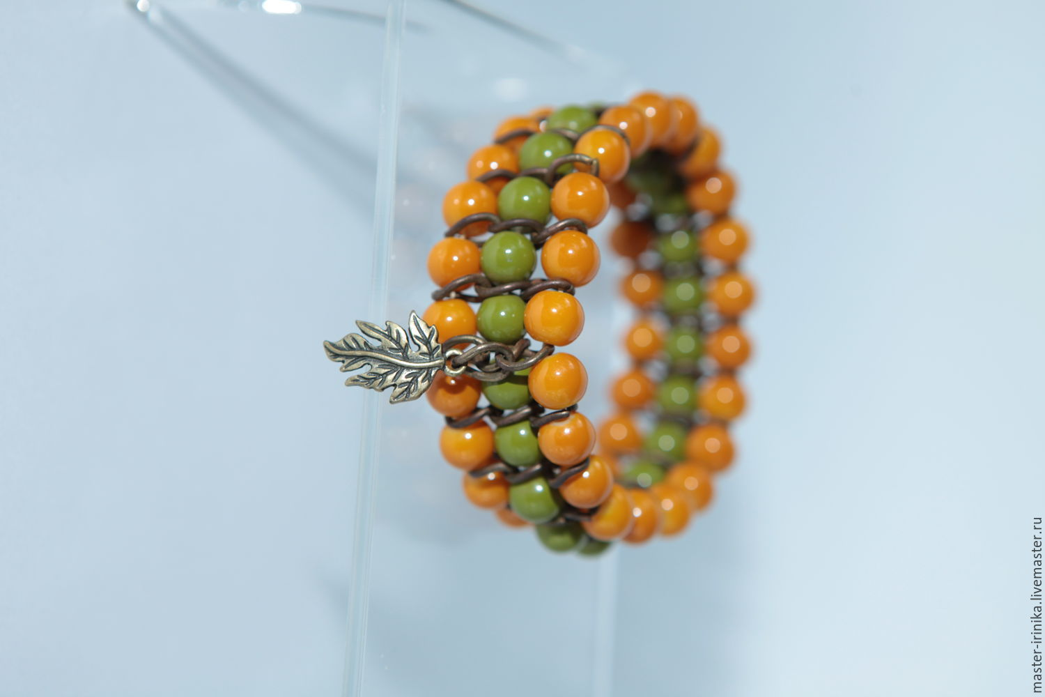 Bracelet Forest Tale in green and terracotta tones Irinika . Workshop of images by Irina N. Jewellery creating an image Photo by the author of the work performed .