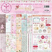 Материалы для творчества handmade. Livemaster - original item Set of paper for scrapbook 30-30 cm. Handmade.
