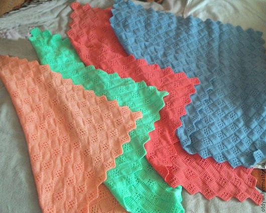 Текстиль, ковры ручной работы. Ярмарка Мастеров - ручная работа. Купить Детский плед. Handmade. Разноцветный, вязание спицами, пряжа