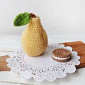 Куклы и игрушки handmade. Livemaster - original item Pear, knitted food. Decor and games with children. Handmade.