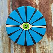 Музыкальные инструменты handmade. Livemaster - original item The all-seeing eye. Tambourine 30 cm. Handmade.