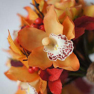 Свадебный салон ручной работы. Ярмарка Мастеров - ручная работа Осенний букет невесты из полимерной глины. Handmade.